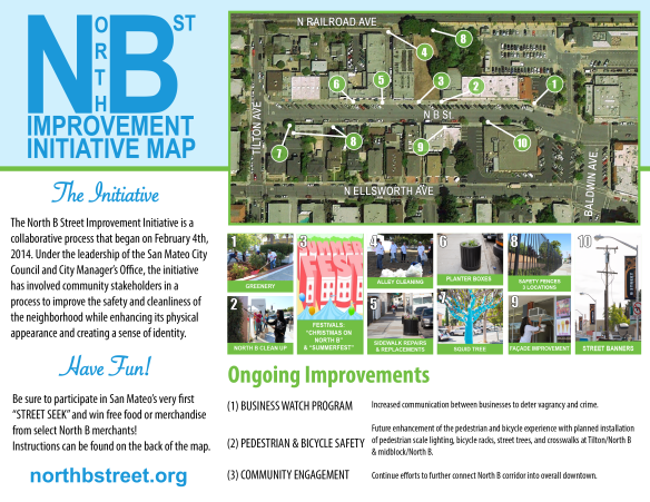 An updated version showing the completed and ongoing improvements in the neighborhood as of June 2014.